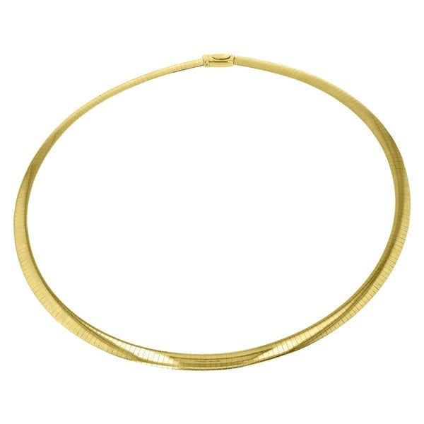 d4f34714a3794 Shop Two Tone Silver and 14K Yellow Gold 16-inch Italian Reversible ...