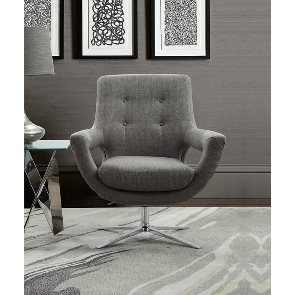 Amazing Shop Armen Living Quinn Adjustable Swivel Accent Chair In Cjindustries Chair Design For Home Cjindustriesco
