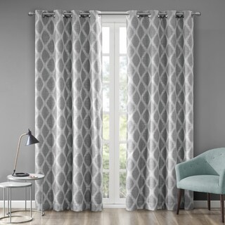 SunSmart Kagen Printed Ikat Blackout Curtain Panel