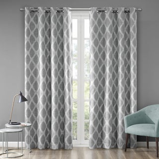 SunSmart Kagen Basket Weave Printed Ikat Blackout Curtain Panel