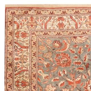 Handmade Herat Oriental Turkish Hand-Knotted Semi-Antique Hereke 1960's Wool Rug - 4' x 5'8