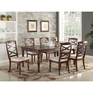 Cream kitchen dining room sets for less overstock royal sofia creambrown wood 7 piece dining set workwithnaturefo