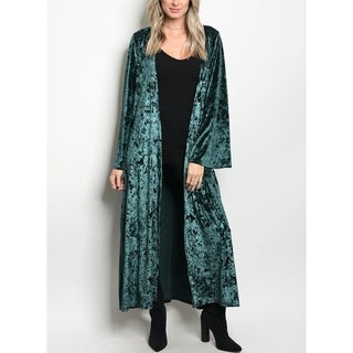 JED Women's Velvet Maxi Kimono Cardigan