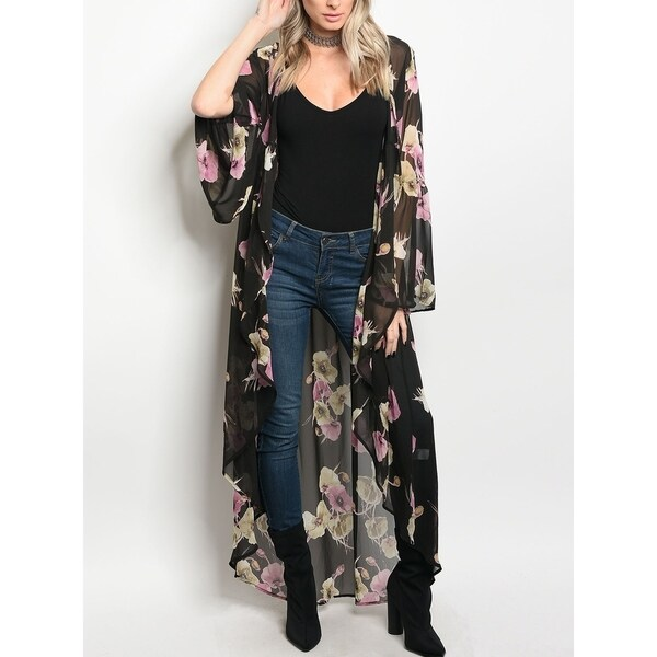 Womens Bell Sleeve Kimono Simply Be