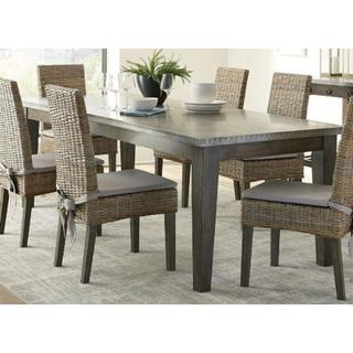 Abington Rustic Industrial Grey/Beige/Brown Mahogany 7-piece Dining Set
