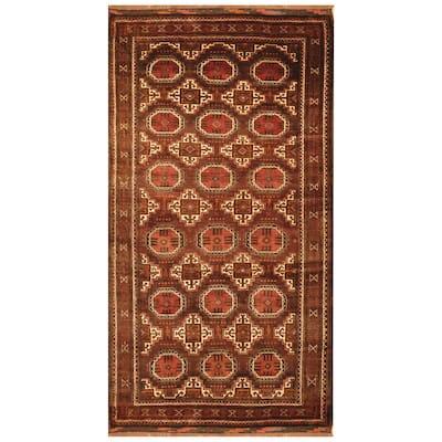 Handmade One-of-a-Kind Balouchi Wool Rug (Afghanistan) - 4' x 7'5