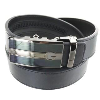 Faddism Men's Leather Business Casual Plate Buckle Belt Model AG-1