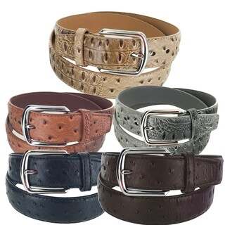 Faddism Men's Leather Business Casual Simple Buckle Belt Model A-26