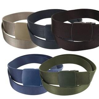 Faddism Men's Allergy Free Plastic Casual Canvas Belt SX Series model 13