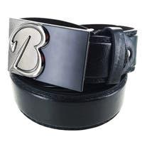 Faddism Men's Leather Plate Buckle Belt Initial B