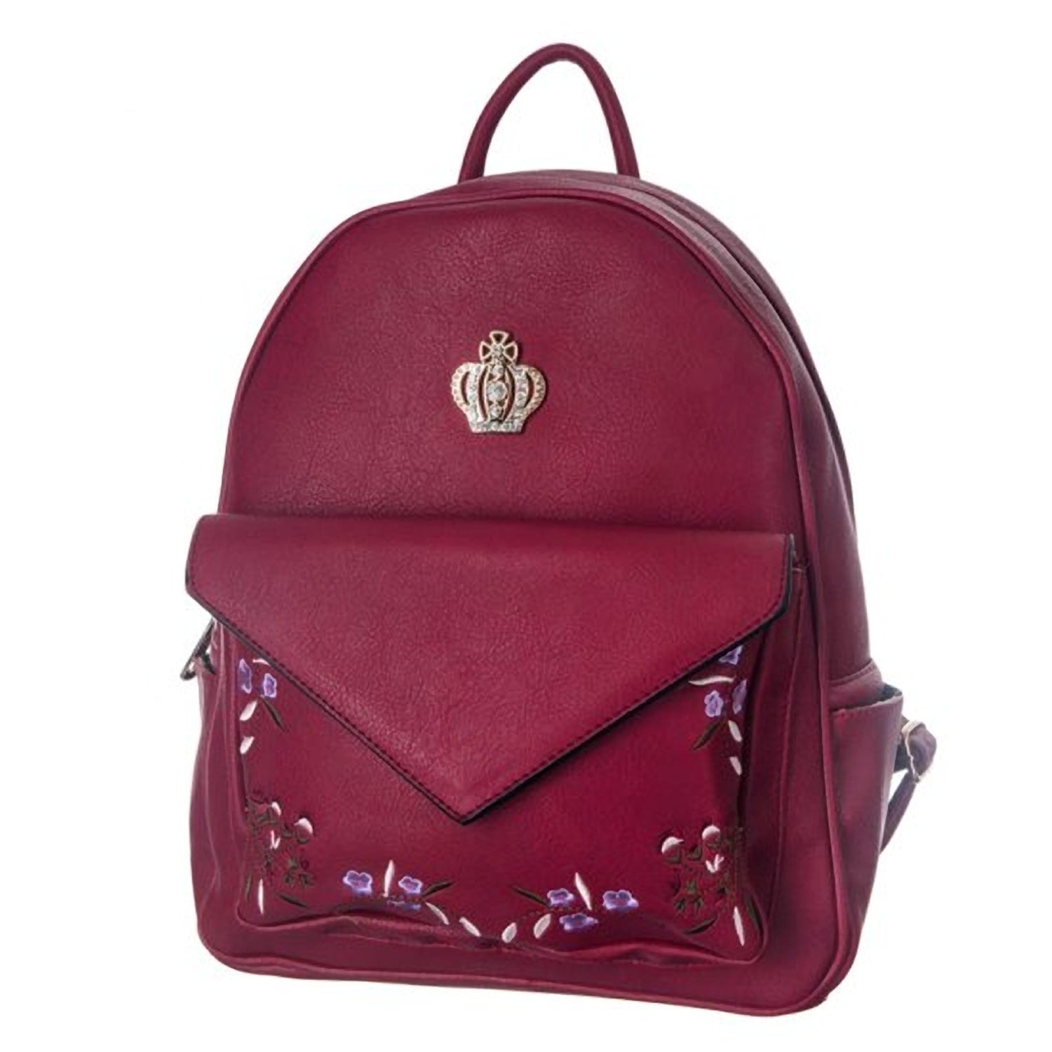 Kate Marie Urban Traveller Faux Leather Backpack (Red)