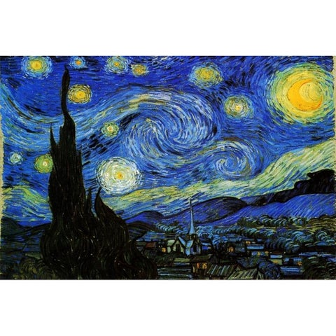 Vincent Van Gogh Starry Night 1000 piece Jigsaw Puzzle