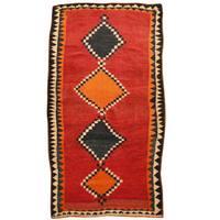 Handmade Herat Oriental Persian Hand-Knotted Tribal Shiraz Wool Rug - 3'9 x 6'6 (Iran)