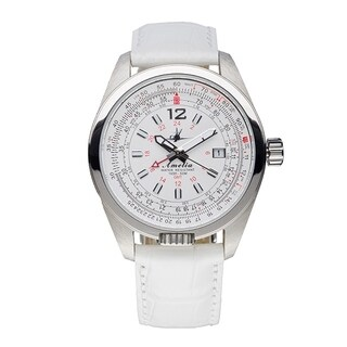 Abingdon Co. Amelia Cloud White Aviation Watch w-Leather Band
