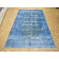 """Hand Knotted Beige Kerman with Wool Oriental Rug (9'5"""" x 15'6"""")"""