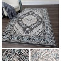 Home Dynamix Oxford Collection Medallion Round Rug (7'10 Round)