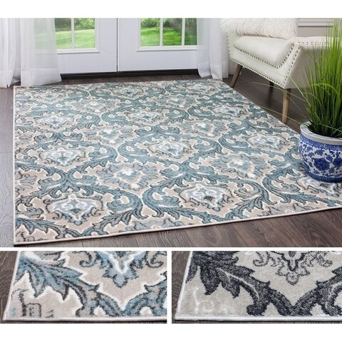 "Home Dynamix Oxford Collection Trellis Floral Area Rug (9'2""X12'5"")"