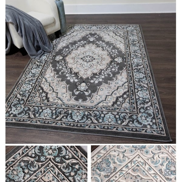Home Dynamix Oxford Collection Medallion Area Rug 47 X