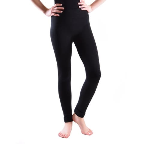 Fleece Lined Leggings Girl's, Boy's Size Range From Small to Extra Large (Sold as Single and 5 Pack)