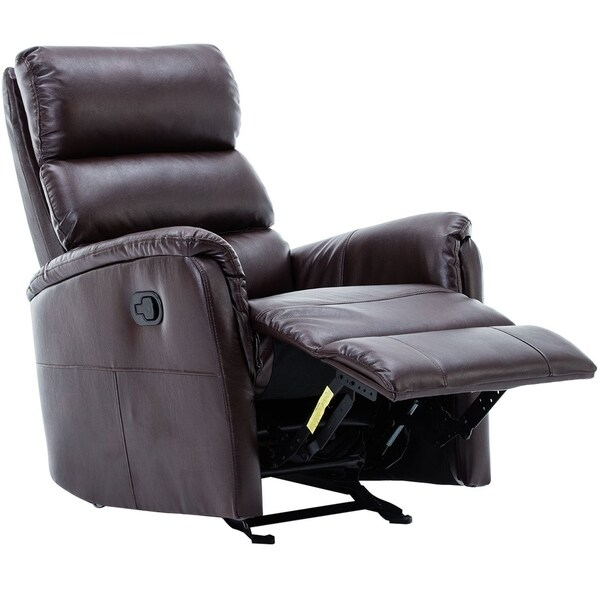 shop bonzy glider recliner chair leather recliner with super comfy