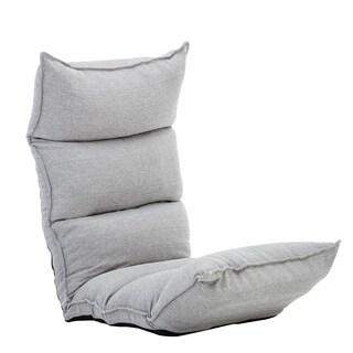 BONZY Floor Chair Foldable Sofa Adjustable Gaming Chair Enjoyable Floor Chair - Smoke Gray