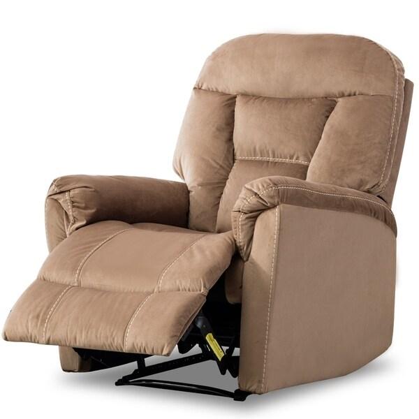 Bonzy Manual Recliner Chair Modern Living Room Furniture Durable Fram Mocha