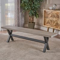 Mayla  Concrete Dining Bench by Christopher Knight Home