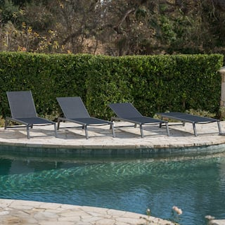 Black Outdoor Chaise Lounges For Less Overstock