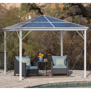 Bailey Outdoor 10 ft. Aluminum Gazebo with Hardtop by Christopher Knight Home