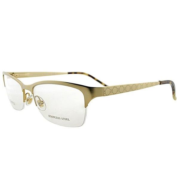 15641705a0d Shop Gucci Semi-Rimless GG 4211 AOZ Unisex Gold Frame Eyeglasses ...