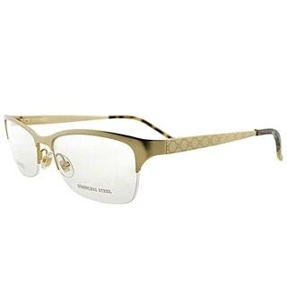 Gucci Semi-Rimless GG 4211 AOZ Unisex Gold Frame Eyeglasses