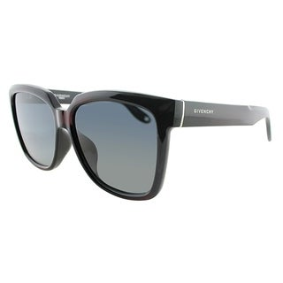 Givenchy Square GV 7021 PZZ Unisex Dark Burgundy Frame Grey Gradient Lens Sunglasses