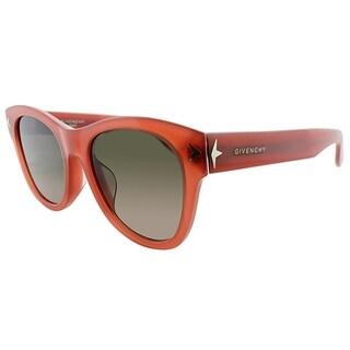 Givenchy Square GV 7024 GGX Unisex Burnt Orange Frame Green Gradient Lens Sunglasses