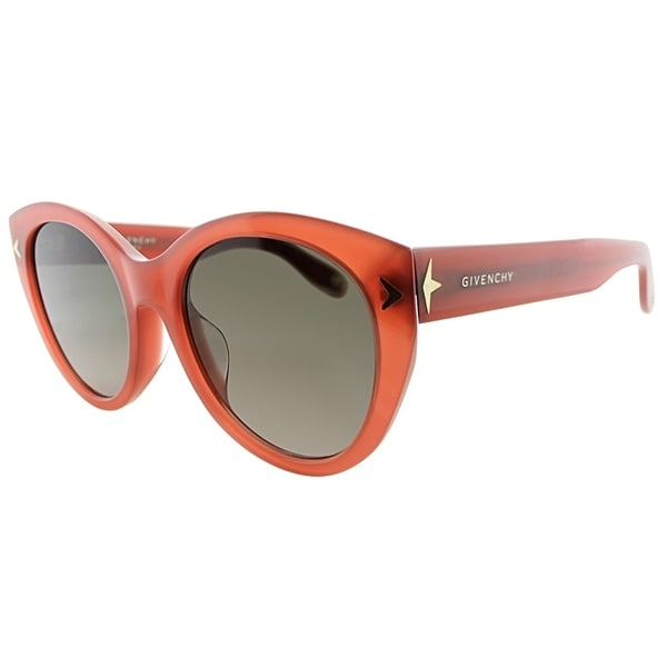 4a841db13f1 Givenchy Cat-Eye GV 7025 GGX Womens Burnt Orange Frame Green Gradient Lens  Sunglasses