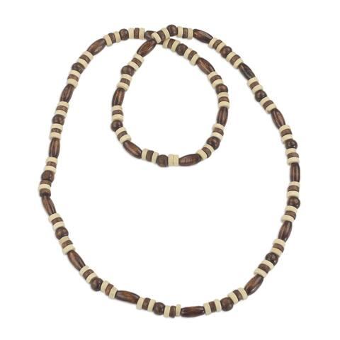 Handmade Sese Wood 'Ahobrasie Virtue' Necklace (Ghana)