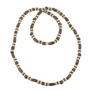 Handmade Sese Wood 'Ahobrasie Virtue' Necklace (Ghana)