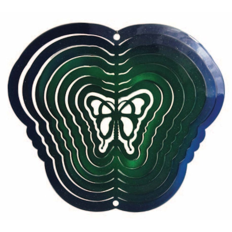 Next Innovations Blue/Green Butterfly Steel Wind Spinner,...