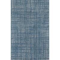 """Momeni Como Mahin Contemporary Blue/Grey Crosshatch Area Rug (5' x 7'6) - 5' x 7'6"""""""