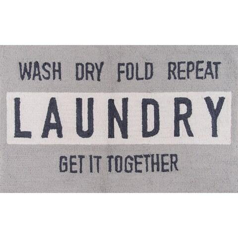 Novogratz by Momeni Laundry Polyester Kitchen Mat 2'3 X 3'9