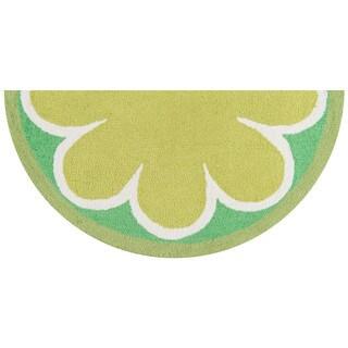 """Novogratz by Momeni Lime Polyester Kitchen Mat 1'6"""" X 3' Half Moon"""
