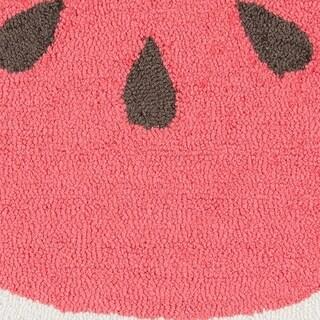 Novogratz by Momeni Cucina Watermelon Polyester Kitchen Mat (Red)