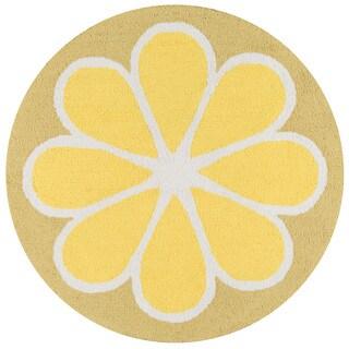 Novogratz by Momeni Lemon Polyester Kitchen Mat 3' X 3' Round