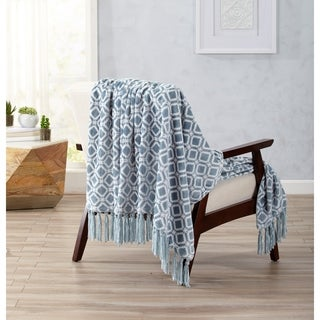 Liliana Collection Ultra Velvet Plush Throw Blanket with Decorative Fringe