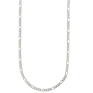 Pori Jewelers 925 Sterling Silver High Polished 1.25MM Figaro 035 Chain necklace