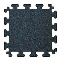 "Titan Tiles 18"" x 18"" Square Interlocking Rubber Flooring, Set of 6. - Black"