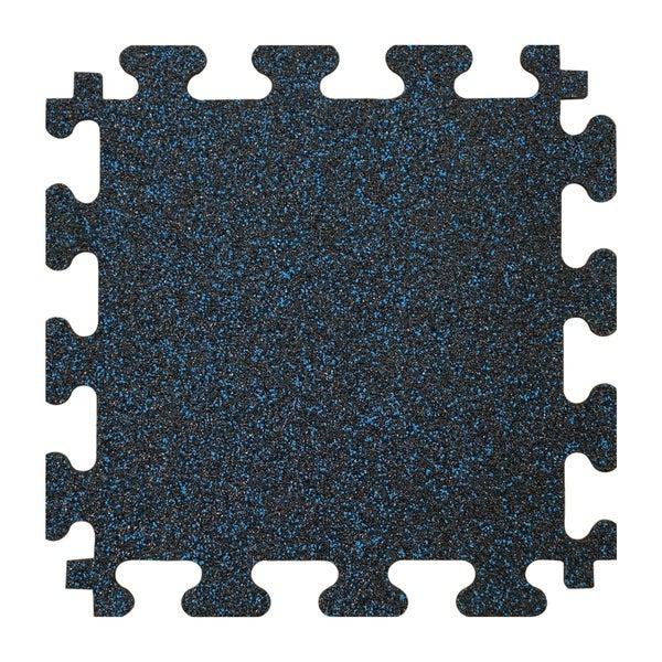 "Titan Tiles 18"" x 18"" Square Interlocking Rubber Flooring, Set of 6. - Black"