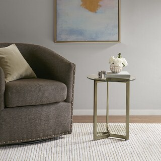 Madison Park Alki Gold Round Accent End Table
