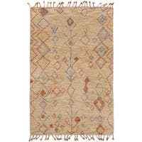 eCarpetGallery Tangier 20042 Brown Wool Hand-knotted Rug - 5' x 8'