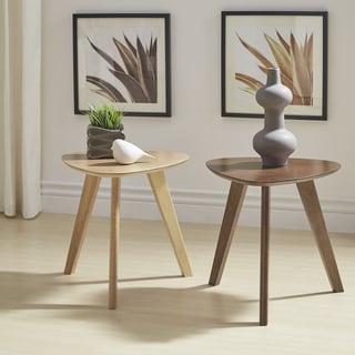 Carson Carrington Sabro Mid-century Triangular Wood End Table (Natural Oak)