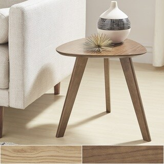 Adler Mid-Century Triangular Wood End Table by iNSPIRE Q Modern